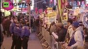 'Fight for $15' Protesters Flood Times Square