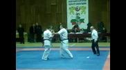 Shinkyokushin National Championship Dimitrovgrad 06.03.2010 Cvetan Petrov vs. Todor Balinov