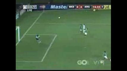 Страхотен  гол на Лео Меси срещу Мексико за Копа Америка 2007