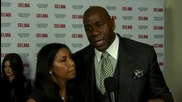 Magic Johnson And His Wife Attend 'Selma' Screening