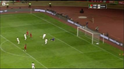 Железния Владо Стоянов спря Роналдо и компания! Португалия - България 0:1