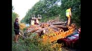 Пътна помощ Автокомплекс Димитров- Изправяне на 98-тонен извънгабаритен товар , Ришки проход