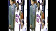 Rodman Knocks Out Jordan (rare footage)