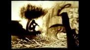 Циганин Рисува С Пясък На Стъкло