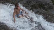 Щура забава. Екстремно спускане по 35 метров водопад ..