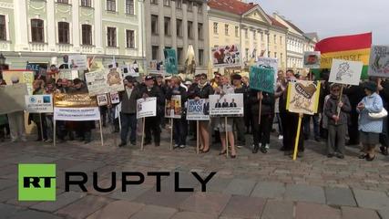 Протести в Талин против вдигането на цените на бензина