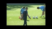 Атлетико Мадрид в подготовка за Малмьо