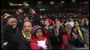 """Арсенал удари Манчестър Юнайтед на """" Олд Трафорд """" с 1:2 и се класира за 1/2 финалите на Фа Къп"""
