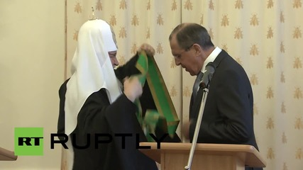 Russia: Patriarch Kirill awards FM Lavrov the Order of Sergius of Radonezh