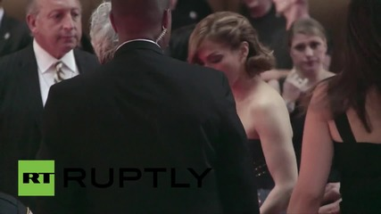 USA: Celebs take to 69th Tony Award red carpet