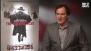 Режисьорът Куентин Тарантино говори за филма си Омразната Осморка (2015)