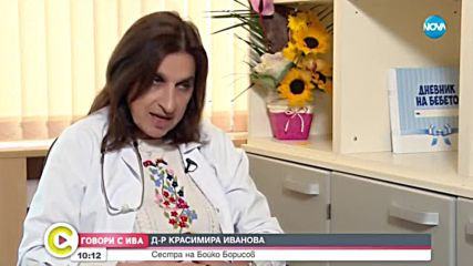 """""""Говори с Ива"""": Д-р Красимира Иванова – сестрата на Бойко Борисов"""