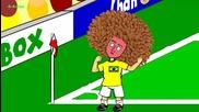Анимации за световното: Бразилия 2 - 1 Колумбия