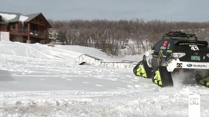 Ken Block тества снегомобила