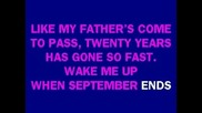 Karaoke! Wake Me Up When September Ends