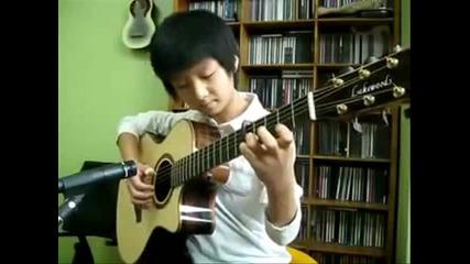 Съчетание на класическа китара с кавал