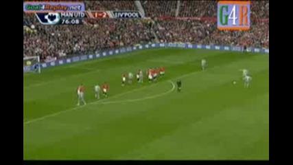 Manchester united - Liverpool 1 - 4 - всички голове