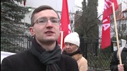 Poland: Pro-Russian protesters rally outside Turkish embassy in Warsaw