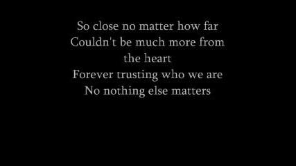 metallica nothing else matters with lyrics