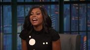 Taraji P. Henson on Improvising Cookie Lyon's Insults - Late Night with Seth Meyers