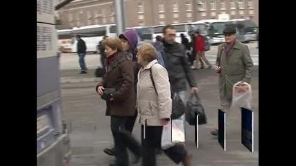 Множество желаещи да пътуват в първия почивен ден около Коледа
