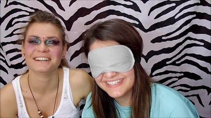 Предизвикателство: гримиране на сляпо! | Blindfolded makeup challenge