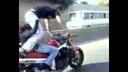 Опасен номер с мотор