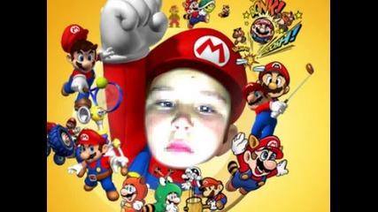 Nikio като Супер Марио