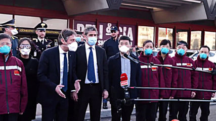 Italy: Chinese medical personnel arrives in Lombardy to help combat COVID-19 pandemic