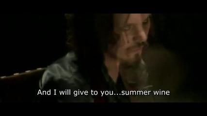 Ville Valo & Natalia Avelon Summer Wine sa prevodom&english subtitle