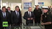 Русия: Путин посети училището за кадети в Севастопол