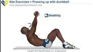Упражнение за корем (преси със допълнителна тежест)