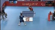 Параолимпиада 2012-невероятен удар-тенис на маса