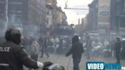 Феновете на Цска блокират София