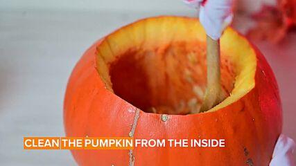 Halloween DIY: Pumpkin Bowls