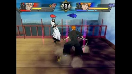 Grimmjow vs Ichigo Bleach Blade of Battlers 2 na Ps2 emu