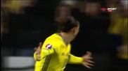 Златан Ибрахимович с втори гол във вратата на Дания