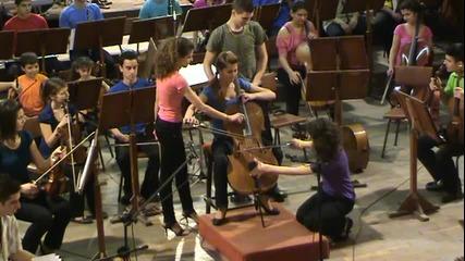 """Равел - """"болеро"""" за 4 изпълнители и 1 виолончело"""
