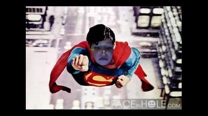 Nikio като:батман, Спайдар мен, Супермен