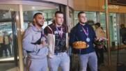 Последната група медалисти от ЕП по щанги се завърна на родна земя