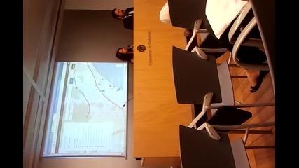 Презентация пред кметството и медиите в Бадалона, Испания, част 4