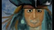 Рисуване на Капитан Джак Спароу
