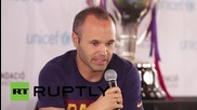 USA: Iniesta & Ter Stegen attend UNICEF event in LA