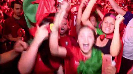 Феновете на Португалия празнуват победата на Евро 2016