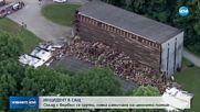 Склад за бърбън се срути в САЩ, хиляди бурета паднаха в дере
