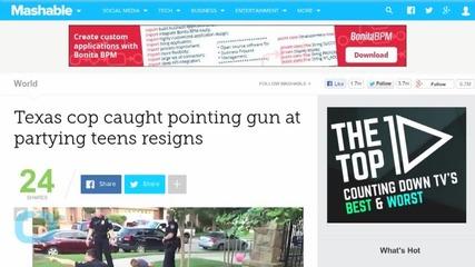 Texas Cop Caught Pointing Gun at Teens Resigns