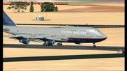 Fsx 747 - 400 Landing Ymml (melbourne)