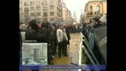 Най голямото меле в целия протест ! ! !