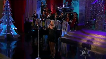 (hd) Mariah Carey - Christmas Time Is In The Air Again (live Abc Christmas Special 2010)