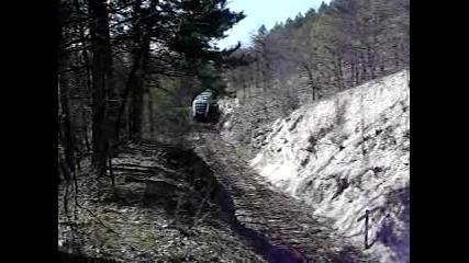 влака за Пловдив -сниман с врори апарат.